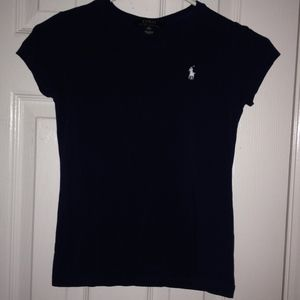 Children's navy blue polo tee